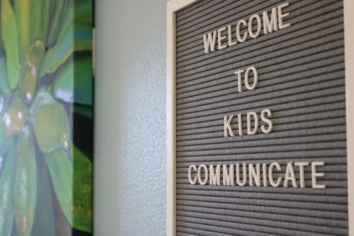Kids Communicate Lobby Sign
